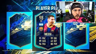 I PACKED 98 TOTS MESSI IN A PLAYER PICK!! FIFA 21