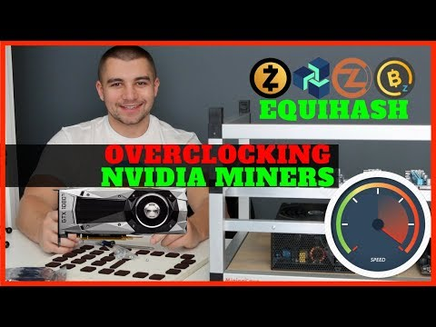 How To Overclock Nvidia GPU For Equihash Mining - Best Hashrates 1080 TI 1070 TI 1060 1050 TI