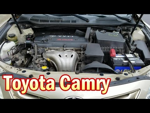 location of parts under hood toyota camry 2006-2011 - youtube  youtube