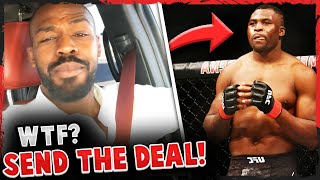 Jon Jones reacts to Dana White saying he's NOT serious about fighting Francis Ngannou + SLAMS  Chael