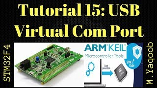 STM32F4 Discovery board - Keil 5 IDE with CubeMX: Tutorial 15 USB VCP - Updated Dec 2017