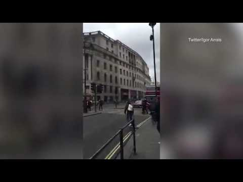 Roads in Trafalgar Square are reopened following evacuation