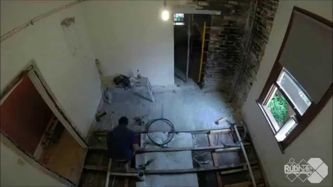 rubi tile sydney bathroom renovation time lapse - YouTube