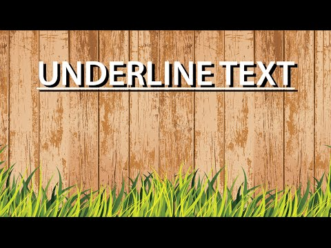 illustrator Tutorial - Underline Text