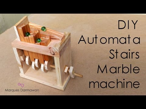 DIY Automata Stairs Marble Machine - Woodworking Eps.4