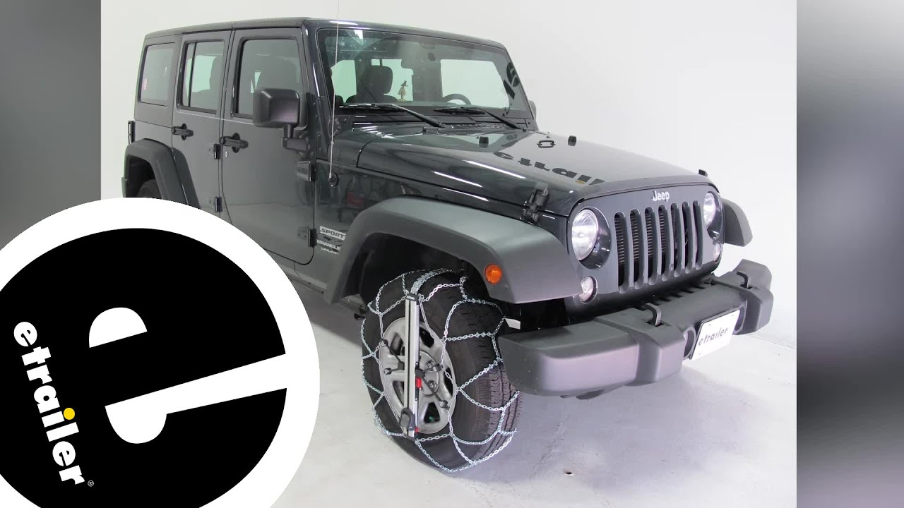 Konig Self Tensioning Low Pro Snow Tire Chains Installation 2017 Jeep Wrangler Unlimited