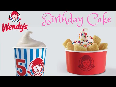 Dreena Gonzalez - Yum! Get the scoop on Wendy's new 'Birthday Cake' Frosty and Sundae!!