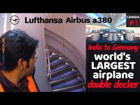Flying Largest Passenger Plane | Lufthansa: Delhi to Frankfurt (India To Canada)