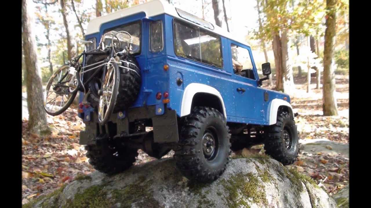 Rc 4x4 Land Rover Defender D90 1 10 Scale Axial Scx 10
