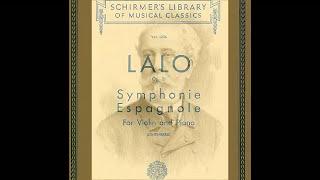 Edouard Lalo Symphonie Espagnole, Op 21 1mv piano accompaniment
