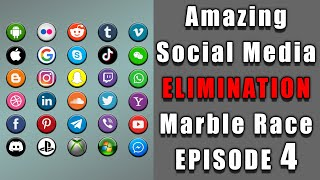 Amazing Social Media Elimination Marble Race 4 in Algodoo \ Marble Race King