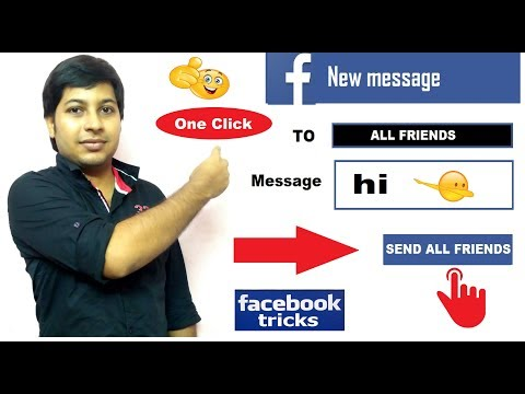 How To Send Messages To All Facebook Friends In One Click   Hindi   How Can I Help U