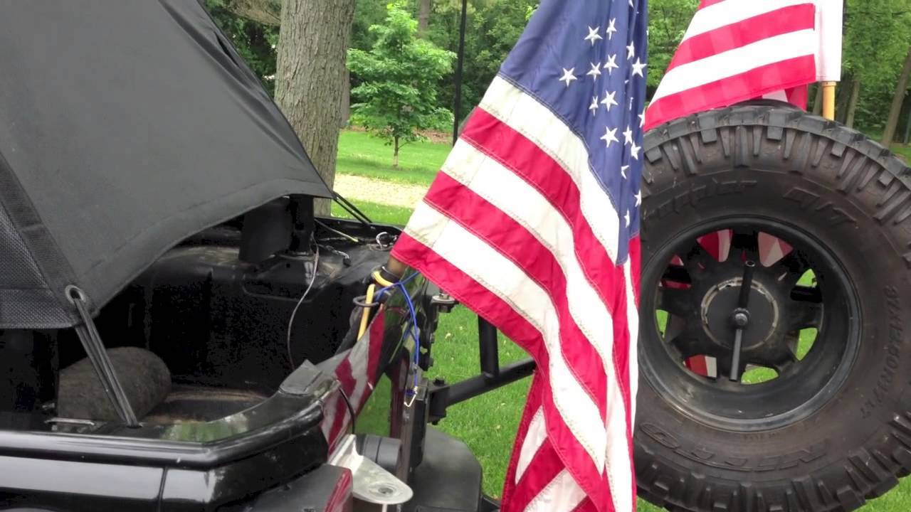 Jeep Jku Flag Mounts Youtube