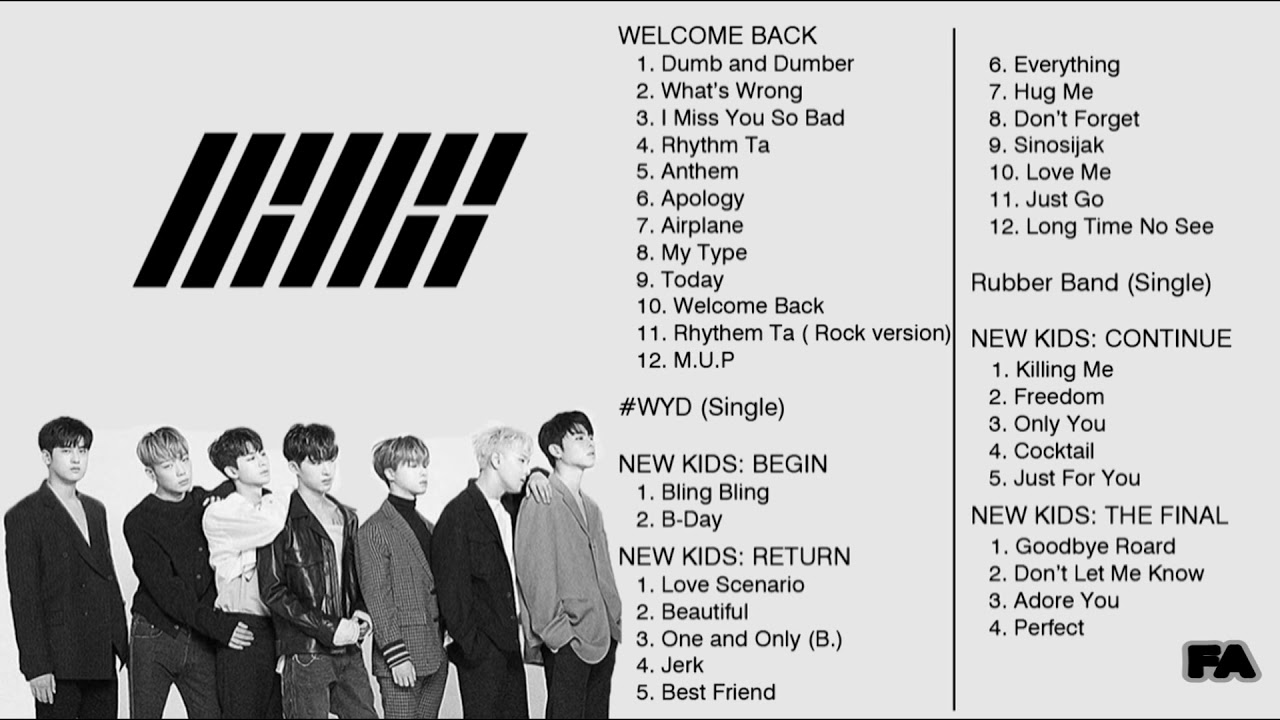 iKON Full Song Completed ( 5 Album, 37 Songs ) - YouTube
