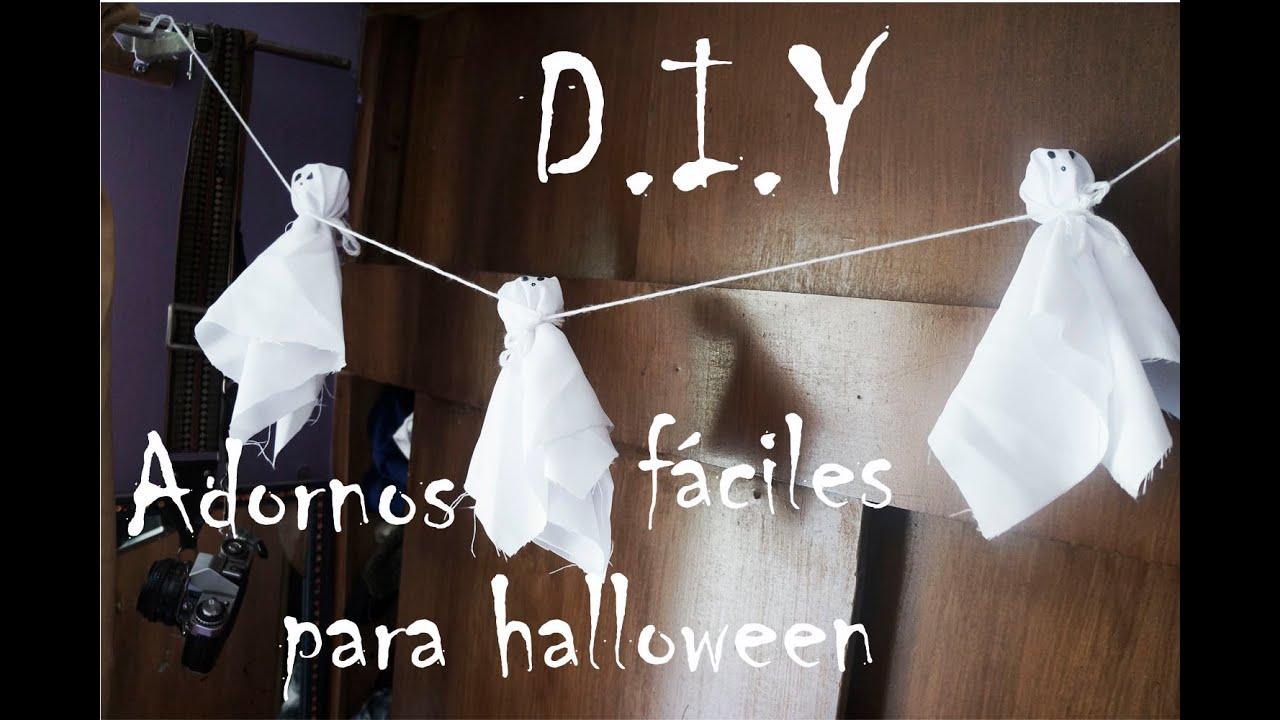 diy adornos fciles para halloween guirnalda de fantasmitas