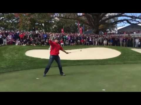 Ryder Cup Fan Makes $100 putt after Heckling Rory McIlroy/Stenson