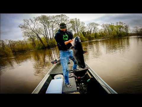 Catching GIANT CATFISH Using An ANCIENT Technique!!!// Limb Line Tutorial// Spring Fishing 2020