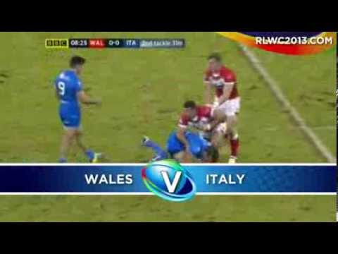 Wales V Italy 2013 Rugby League World Cup Highlights