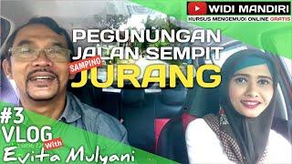 Tips & trik belajar mobil di Pegunungan yg sempit samping Jurang | Vlog 3 Evita Mulyani