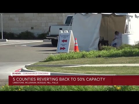 State Asks Several Central Texas Counties To Rollback Occupancy Rate Due To High Hospitalizations