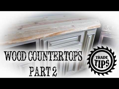 Building a Wood Countertop from 2x10's (PART 2) - Trade Tips