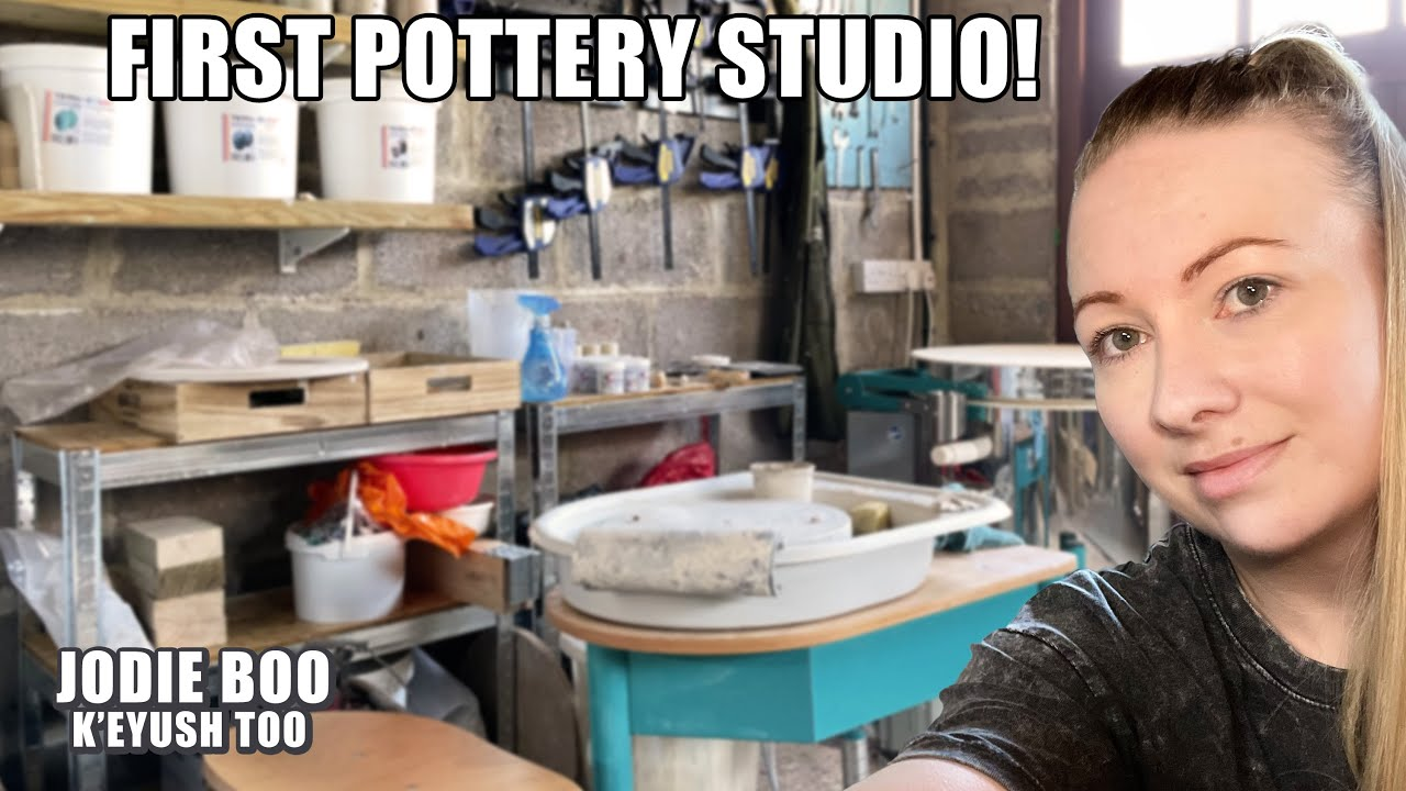 Setting Up My FIRST Pottery Studio at Home!