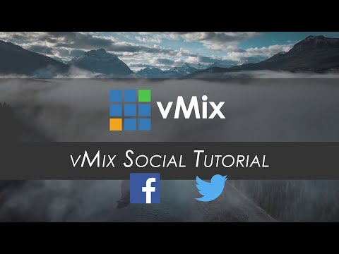 vMix Social Tutorial Add social media content to your live stream. Now includes YouTube Live Chat!