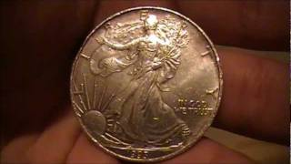 Found an American Silver Eagle Coin at a Fast Food Restaurant