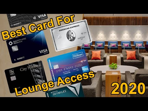 Best Credit Cards For Airport Lounge Access 2020