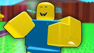 . HE IS HAPPY TO BEAT HIM! (Roblox)