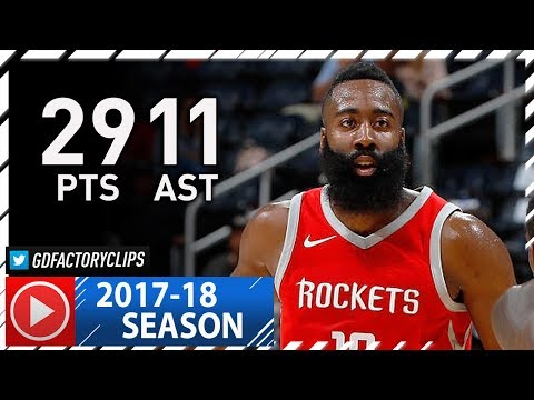 James Harden Full Highlights vs Hawks (2017.11.03) - 29 Pts, 11 Ast in 3 Qtrs