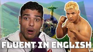 Paulo Costa being fluent in english..