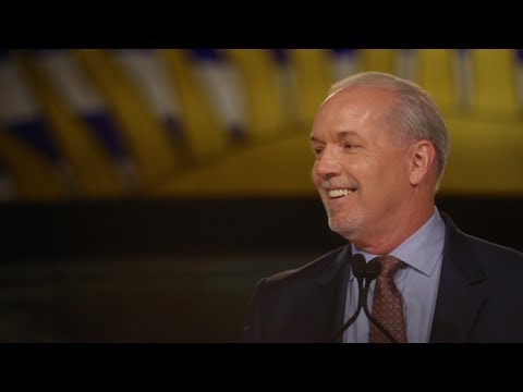 John Horgan and new B.C. NDP government swearing-in ceremony