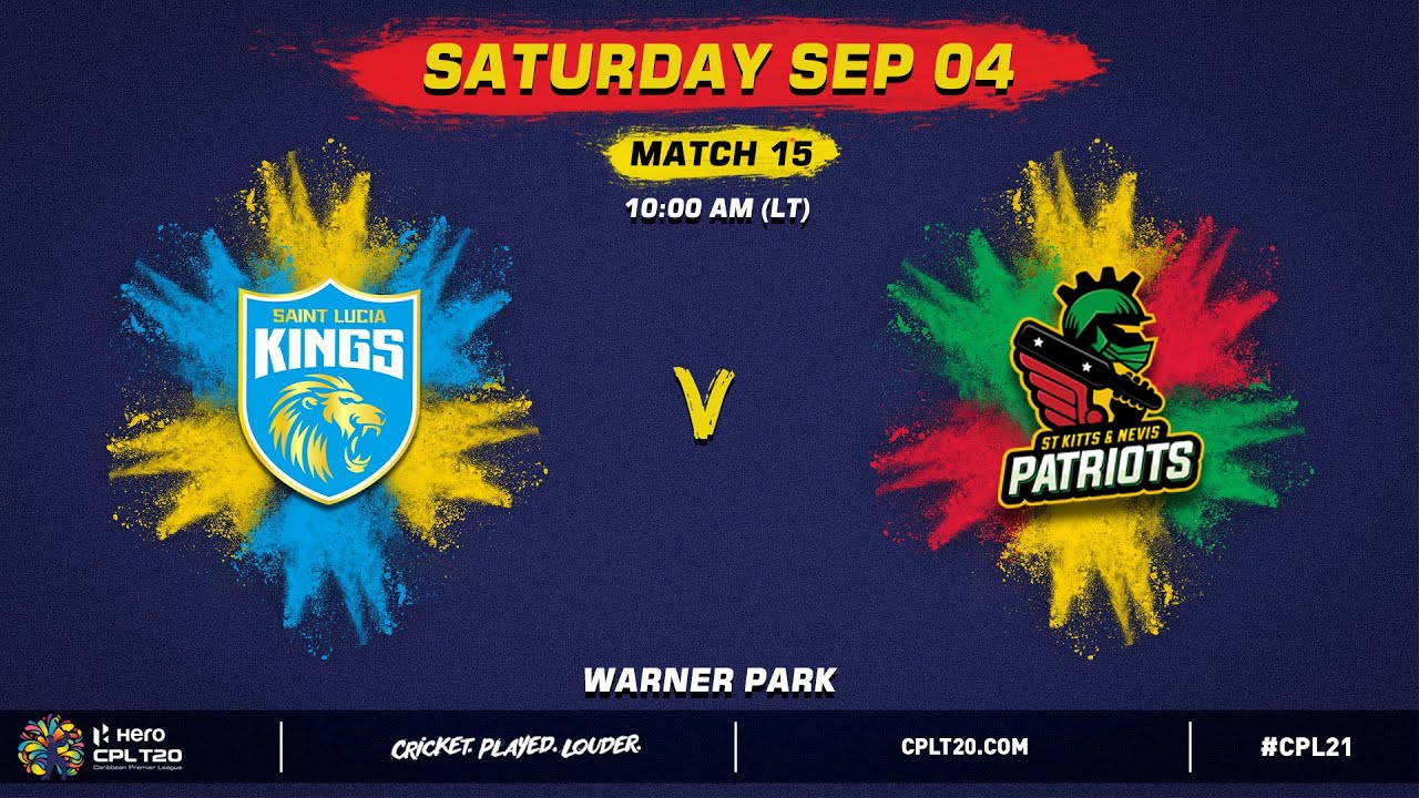Download LIVE | Saint Lucia Kings vs St Kitts & Nevis Patriots | CPL 2021