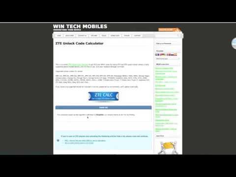 ZTE unlock code calculator How To