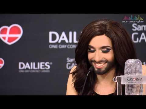 Persconferentie Conchita Wurst Eurovision 2014 Winner's Press Conference