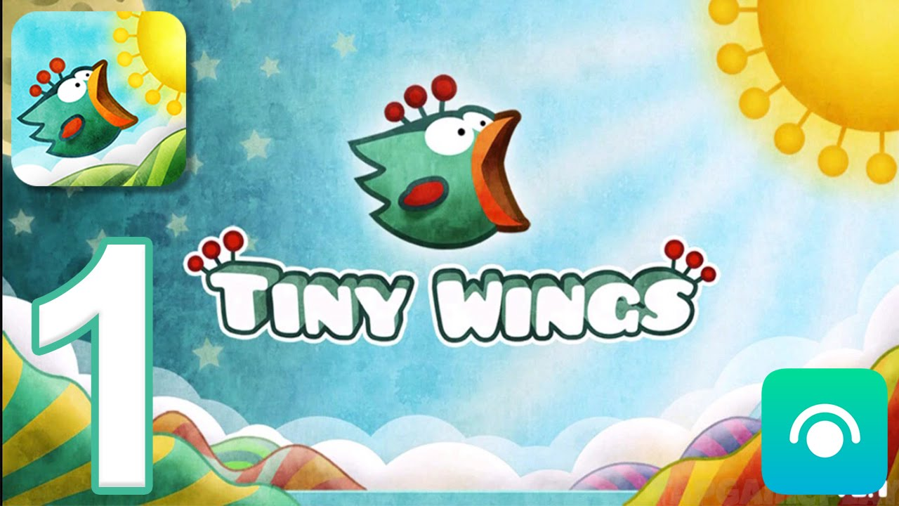 Tiny Wings – Gameplay Walkthrough Part 1 – Chapter 1 (iOS)