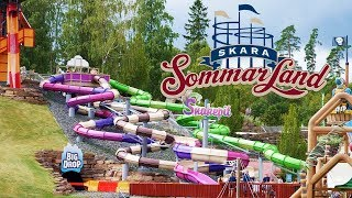 Snake Pit Tube Slides at Skara Sommarland Water Park