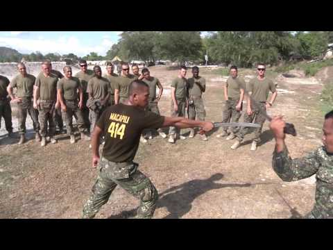 MilitaryMixedMartialArts.com - US and Philippine Marines do crazy knife and sword training