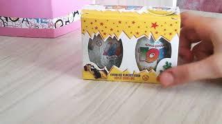 Sürpriz yumurta açımı. Topi 2 adet. Oyuncak yumurtlayan sütlü çikolata. Eğlenceli çocuk videosu.