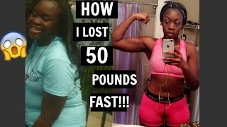 HOW I LOST 50 POUNDS IN 5 MONTHS!!! || REALISTIC TIPS!