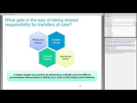 Better Care Fund webinar recording: Transfers of care - sharing responsibilities