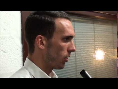 Post match: Liam Hogan after the Blackburn friendly