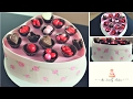 Valentines Heart Shaped Box Of Chocolates Cake With Edible Chocolate Wrappers Tutorial!