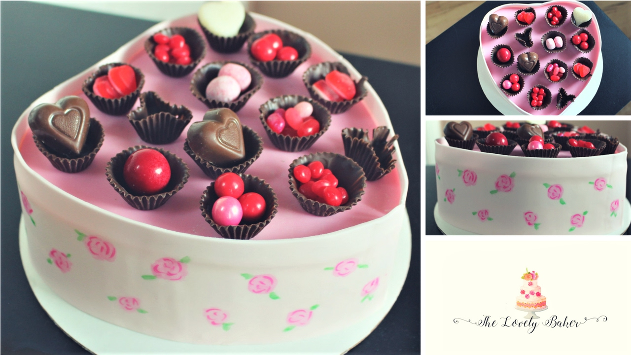 Valentines Heart Shaped Box Of Chocolates Cake With Edible Chocolate Wrappers Tutorial! & Valentines Heart Shaped Box Of Chocolates Cake With Edible ... Aboutintivar.Com