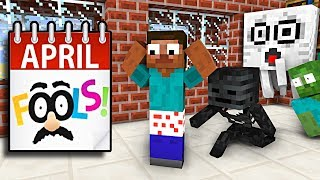 Monster School : APRIL FOOLS DAY - Minecraft Animation