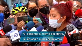 Marisol Tapia, mamá de Brandon Giovanni, niño de 12 años que murió en el colapso de la Línea-12, dijo que si Florencia Serranía continúa al frente del Metro, la situación nunca se aclarará