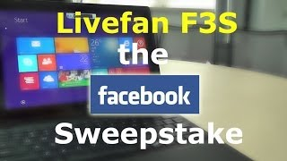 livefan f3s the windows 8 1 tablet facebook sweepstake over