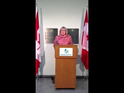 Harper government announcement on voluntary sector