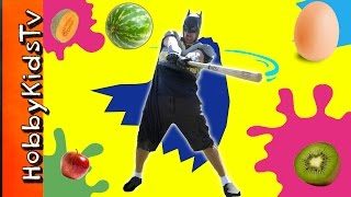 Batman Bat Super Hero Food Smash HobbyKidsTV